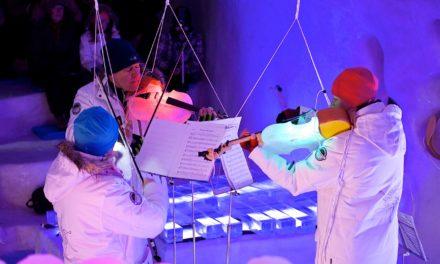 Musikinstrumente aus Eis und Gemüse