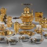 Das goldene Nachtzeug des Kaiserpaares